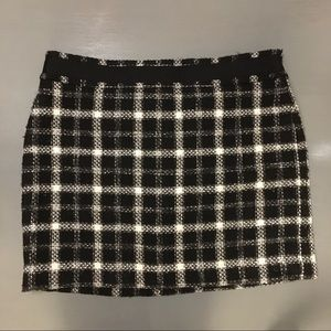 LOFT Plaid mini skirt